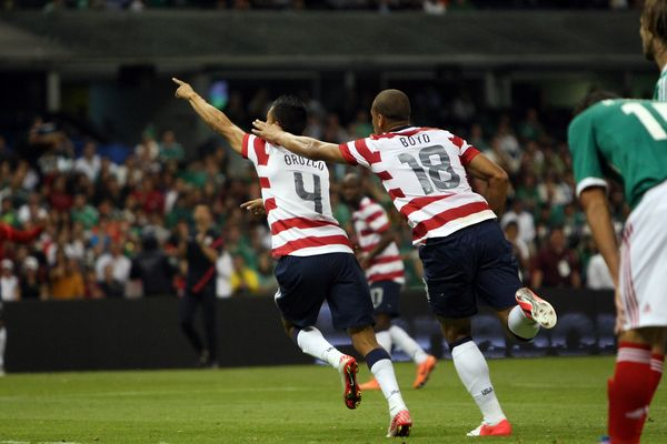 The USA win over Mexico only made the third spot in Jason Davis's end of year roundup.  Credit: Tony Quinn - ISIPhotos.com