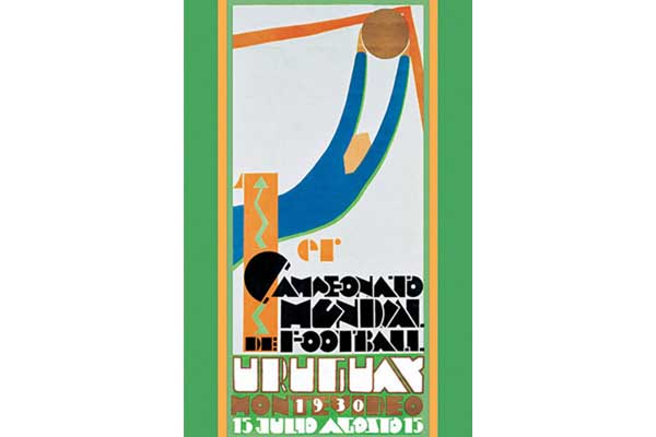 The 1930 World Cup poster, courtesy of FIFA.