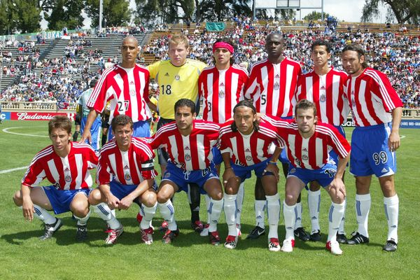 Chivas USA's 2005 lineup in their first year as a Major League Soccer club.  Credit: Michael Pimentel - ISIPhotos.com