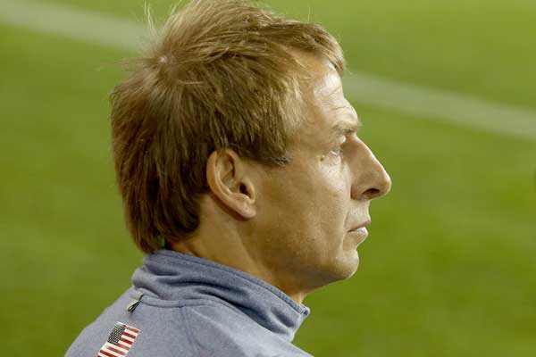 US National Team coach Jurgen Klinsmann during the Jan 29, 2013 friendly with Canada.  Credit: Thomas B. Shea - ISIPhotos.com