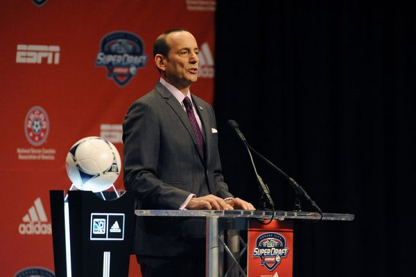 MLS commissioner Don Garber at the 2012 MLS SuperDraft.  Credit: Bill Barrett - ISIPhotos.com