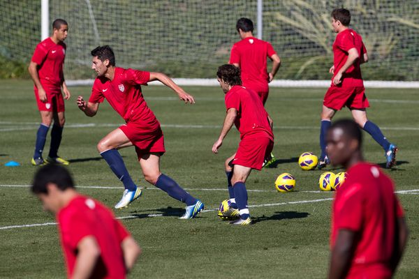 The US National Team during January camp in 2013.  Credit: Michael Janosz - ISIPhotos.com