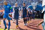 The lineups for the Honduras - USA World Cup Qualifier. Credit: Michael Janosz - ISIPhotos.com