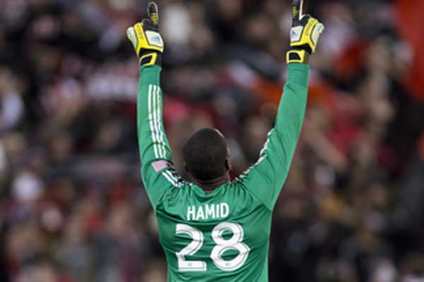 DC United goalkeeper Bill Hamid celebrates a Week 2 win over RSL.  Credit: Brad Smith - ISIPhotos.com
