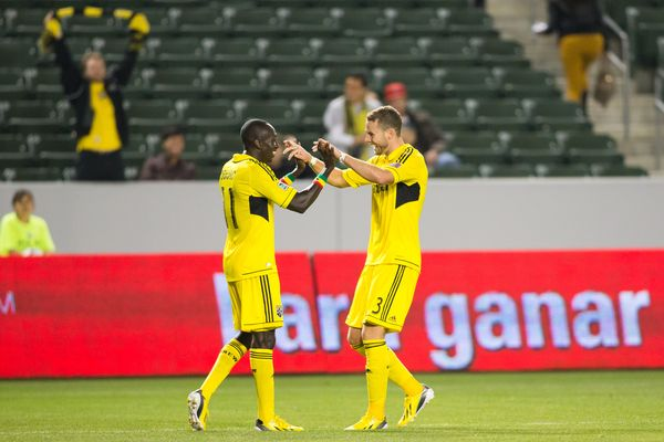 It's worth pointing out that Columbus is the away team in this photo.  Credit: Michael Janosz - ISIPhotos.com