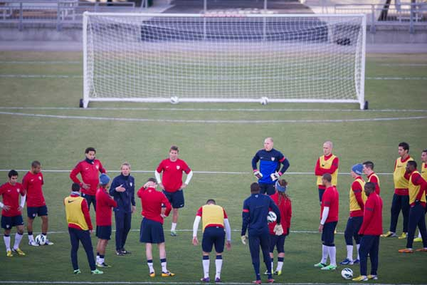 The US National Team in training on March 19th.  Credit: John Todd - ISIPhotos.com