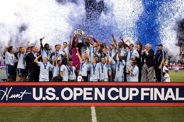 2012 Open Cup winners Sporting Kansas City.  Credit: Brad Smith - ISIPhotos.com