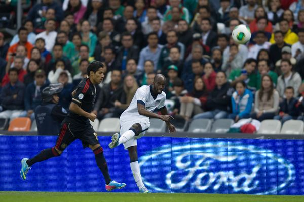 US soccer player DaMarcus Beasley against Mexico. Credit: John Todd - ISIPhotos.com
