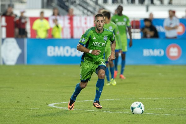 Clint Dempsey at BMO field in Toronto on Aug 10, 2013. Credit: Nick Turchiaro - ISIPhotos.com