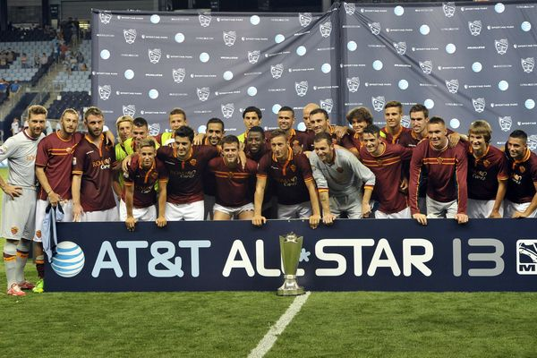 These aren't the All-Stars you're looking for. AS Roma takes the prize in Kansas City. Credit: Bill Barrett - ISIPhotos.com