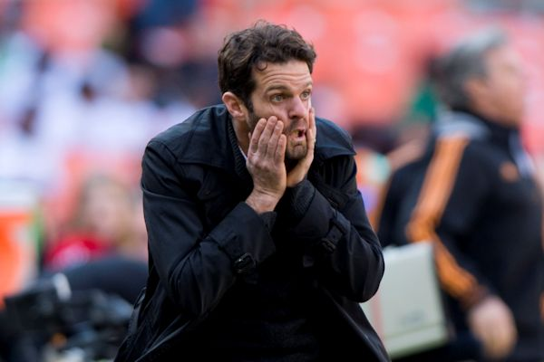 DC United coach Ben Olsen on the final day of the 2013 MLS regular season. Credit: Brad Smith - ISIPhotos.com