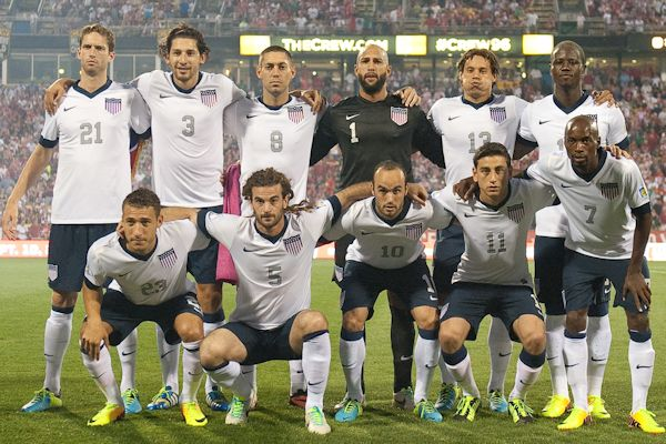 The starting XI for the United States against Mexico on Sep 10, 2013. Credit: John Todd - ISIPhotos.com