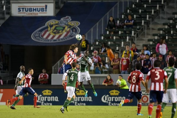 Chivas USA in action during the 2013 MLS season. Credit: Michael Janosz - ISIPhotos.com