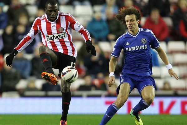 Sunderland's Jozy Altidore on the ball against Chelsea in the League Cup. Credit: Matt West - ISIPhotos.com