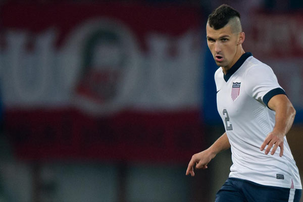 USMNT player Eric Lichaj. Credit: Thomas Eisenhuth - ISIPhotos.com