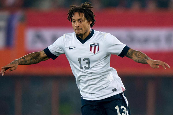 USMNT soccer player Jermaine Jones. Credit: Thomas Eisenhuth - ISIPhotos.com