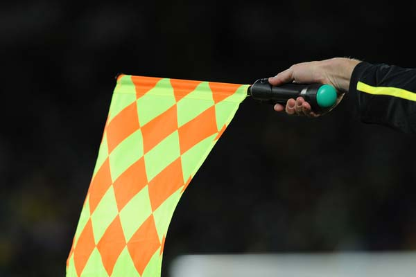 offside soccer flag referee