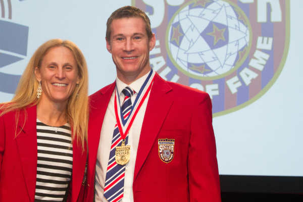 kristine-lilly-brian-mcbride-2014-national-soccer-hall-of-fame-induction