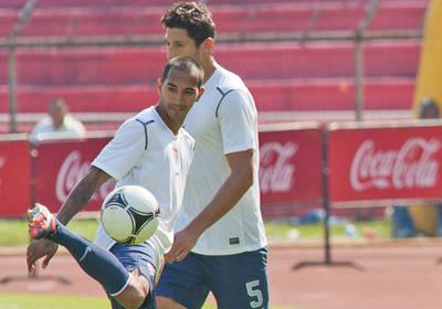Omar Gonzalez and Edgar Castillo in the 2016 Liga MX Clausura finals