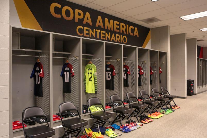 Lockerroom Usmnt Glendale Copa Centenario Soccer