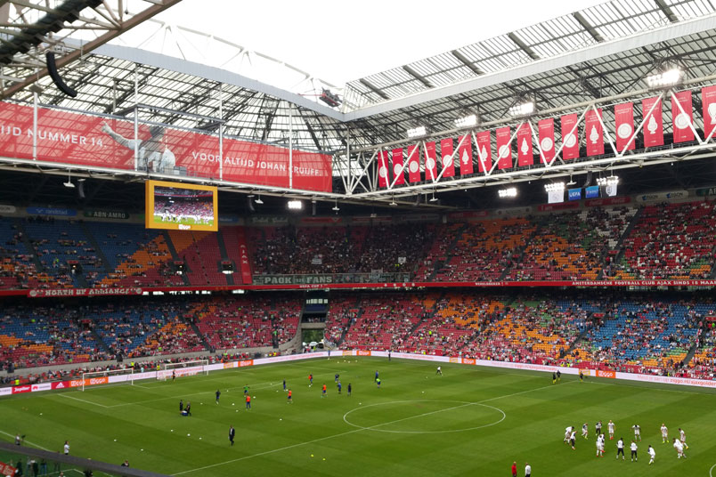 Amsterdam ArenA for a Champions League qualifier in 2016.