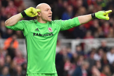Guzan in goal for Middlesbrough in FA Cup