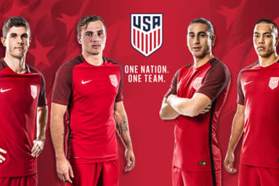 Red shirts for the USMNT