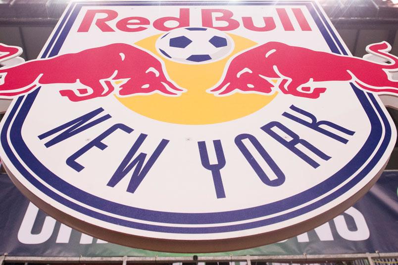 The New York Red Bulls logo.