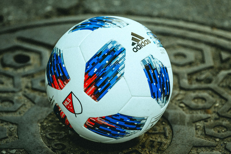 The 2018 MLS match ball by adidas.