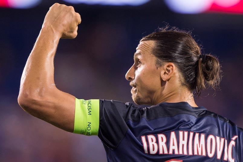 Soccer player Zlatan Ibrahimovic.