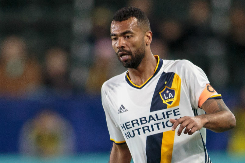 Ashley Cole during the LA Galaxy's friendly with NYCFC on Feb 10, 2018.