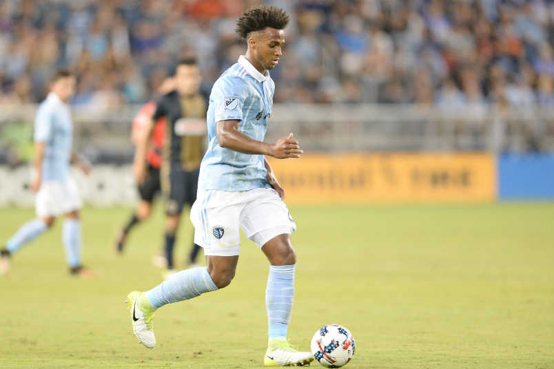 Sporting Kansas City soccer player Erik Palmer-Brown.