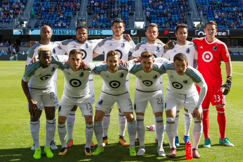 Minnesota United starting lineup.