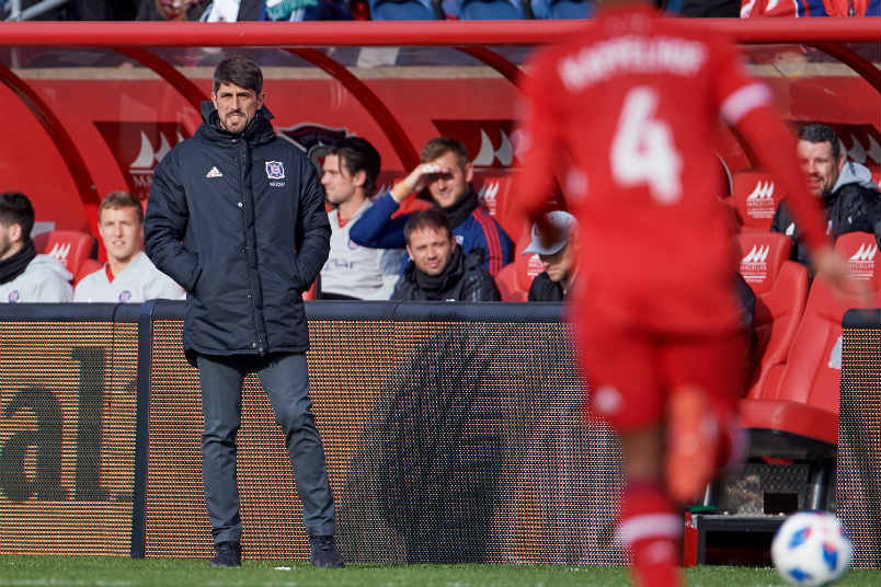 Chicago fire coach Veljko Paunovic.