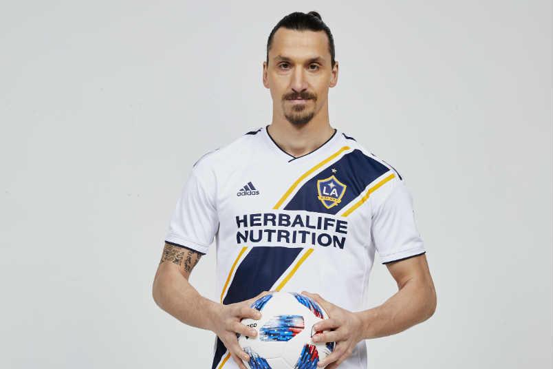 LA Galaxy player Zlatan Ibrahimovic.