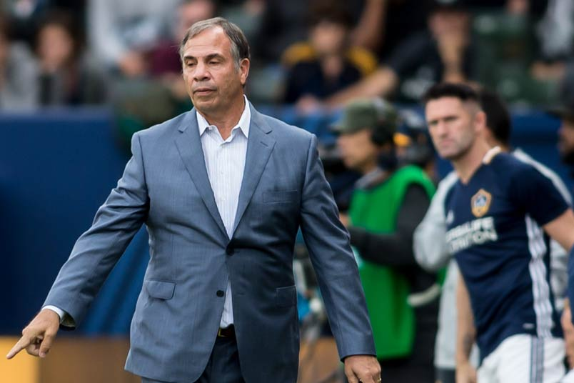 Bruce Arena with the LA Galaxy.