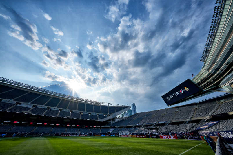 Chicago's Soldier Field setup for the 2017 MLS All-Star Game.
