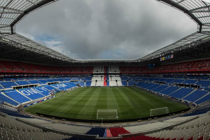 Groupama Stadium in Lyon, France.
