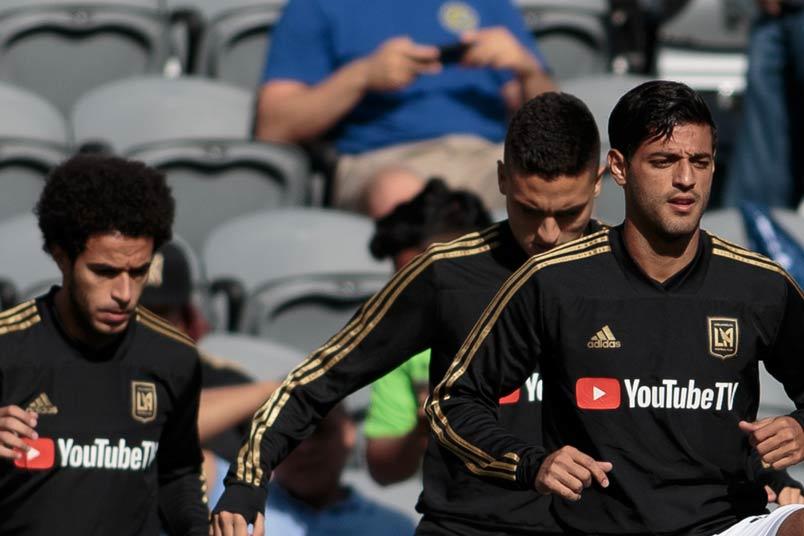 LAFC soccer player Carlos Vela.