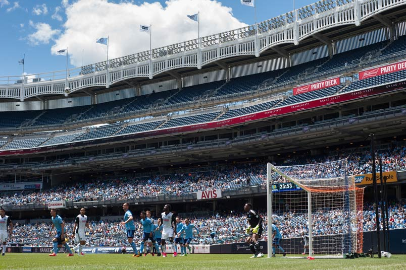 NYCFC in action at Yankee Stadium.