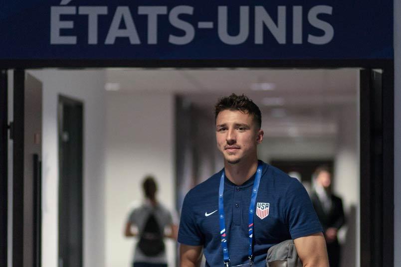 USMNT soccer player Andrija Novakovich.