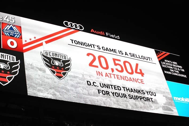 Audi Field scoreboard