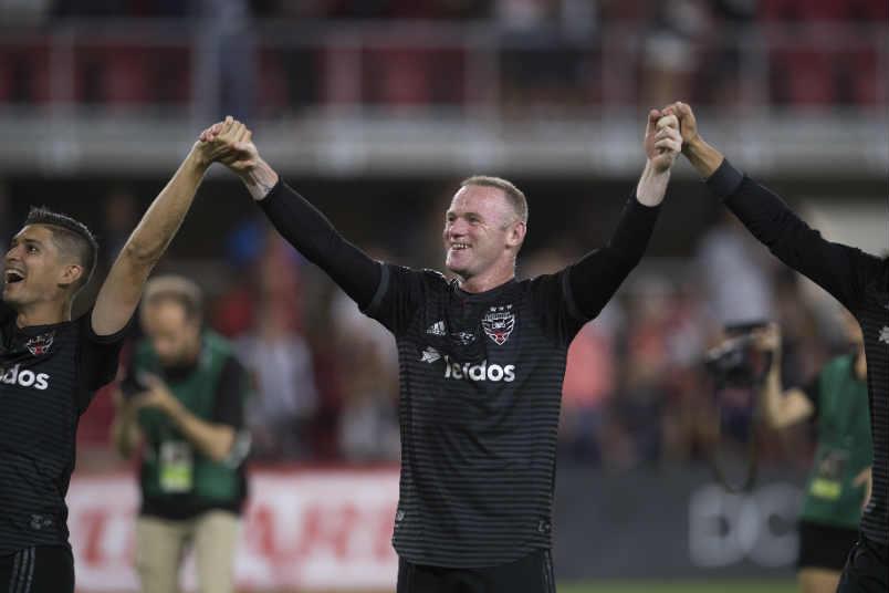 DC United midfielder Wayne Rooney