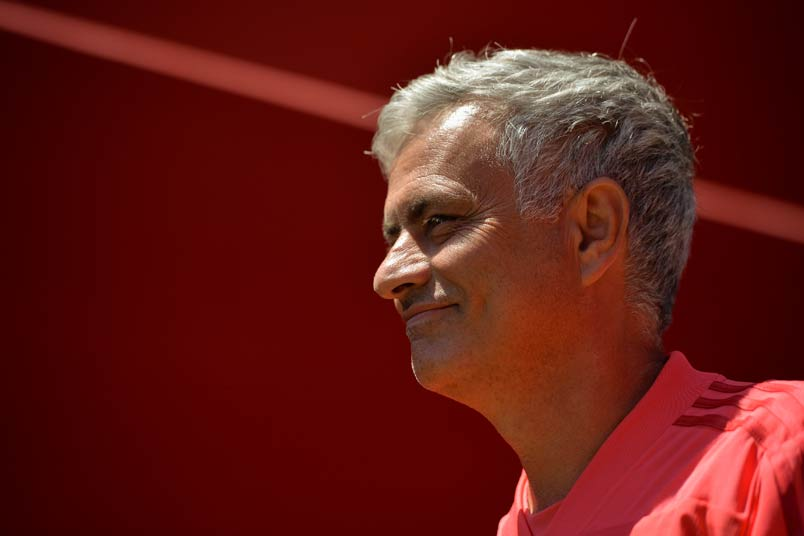 Manchester United manager Jose Mourinho at Levi's Stadium