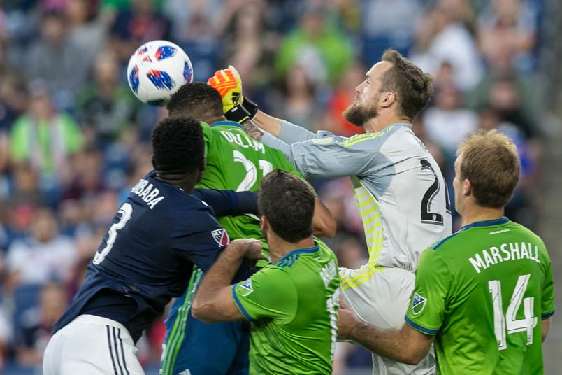 Seattle goalkeeper Stefan Frei in action.