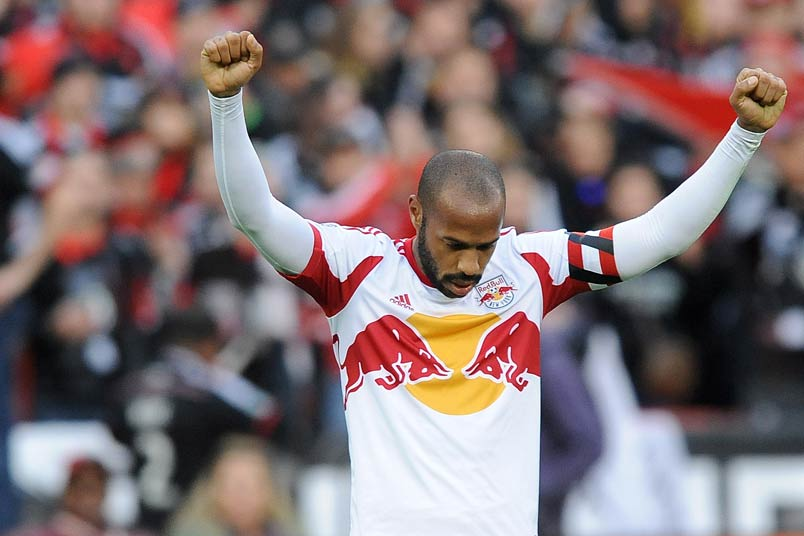 Thierry Henry with the NY Red Bulls