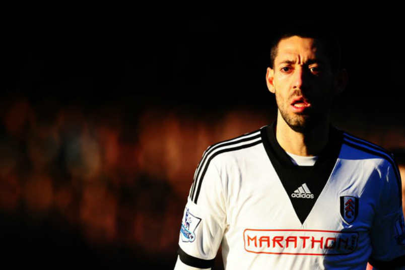 Clint Dempsey with Fulham in 2014