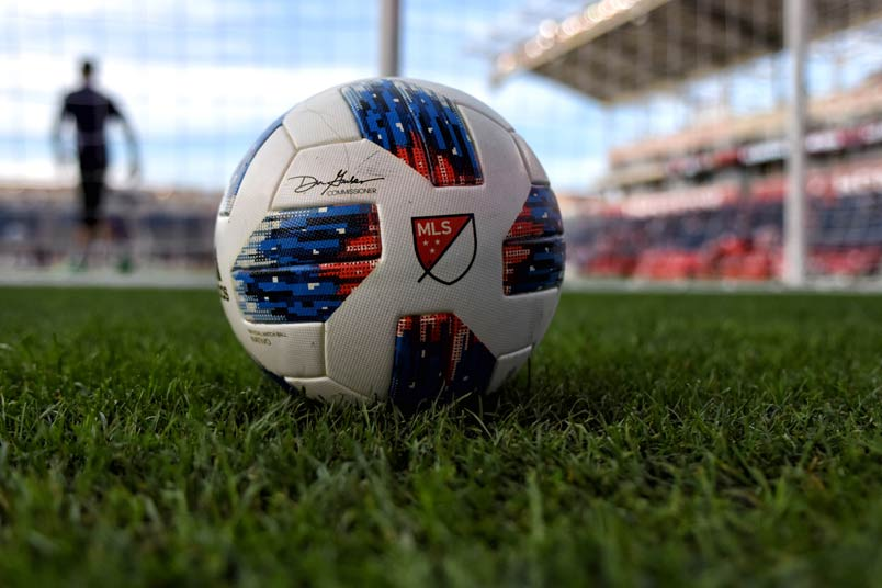 MLS ball at Toyota Park