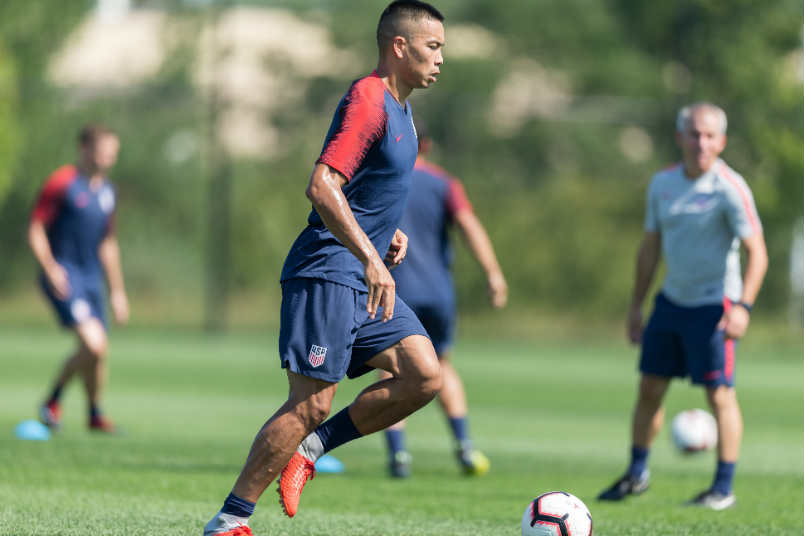 USMNT soccer player Bobby Wood