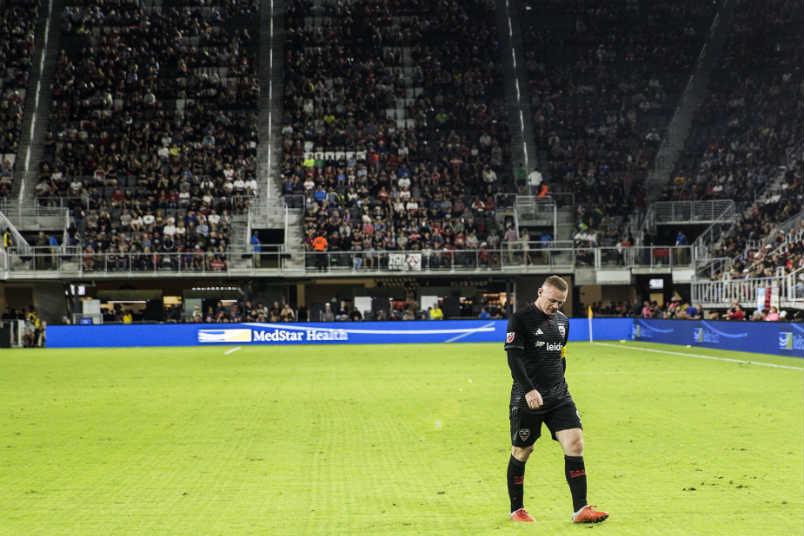 DC United's Wayne Rooney at Audi Field